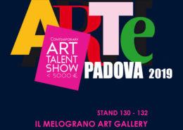 Arte Padova 2019 Il Melograno Art Gallery stands 130 e 132